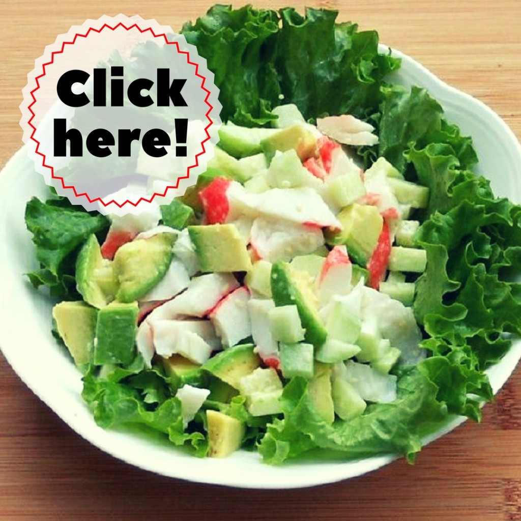 california roll salad - call to action