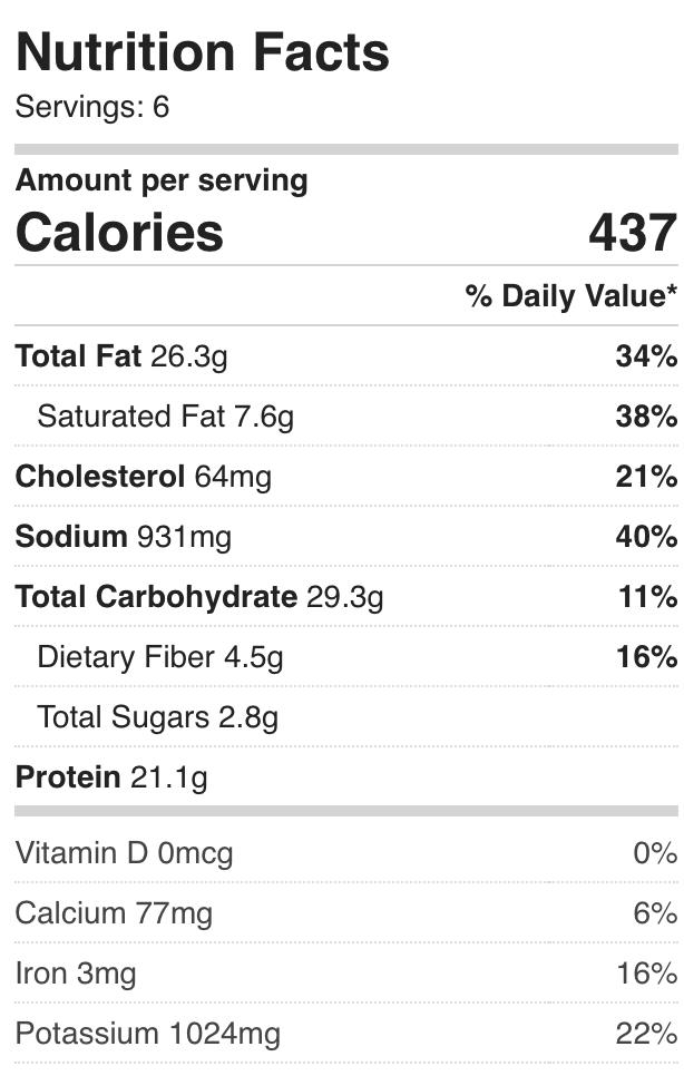 sausage kale soup nutrition info