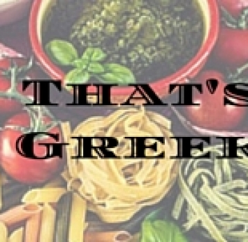 That's Greek!