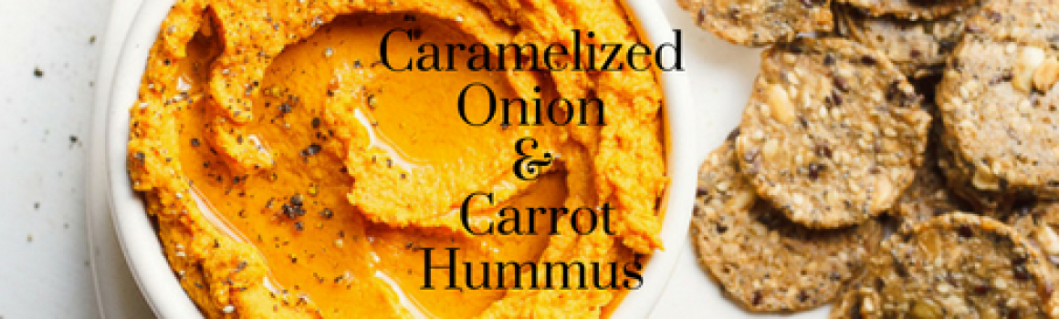 Caramelized Onion and Carrot Hummus