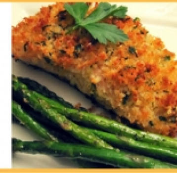 Quick and Easy Panko Crusted Salmon