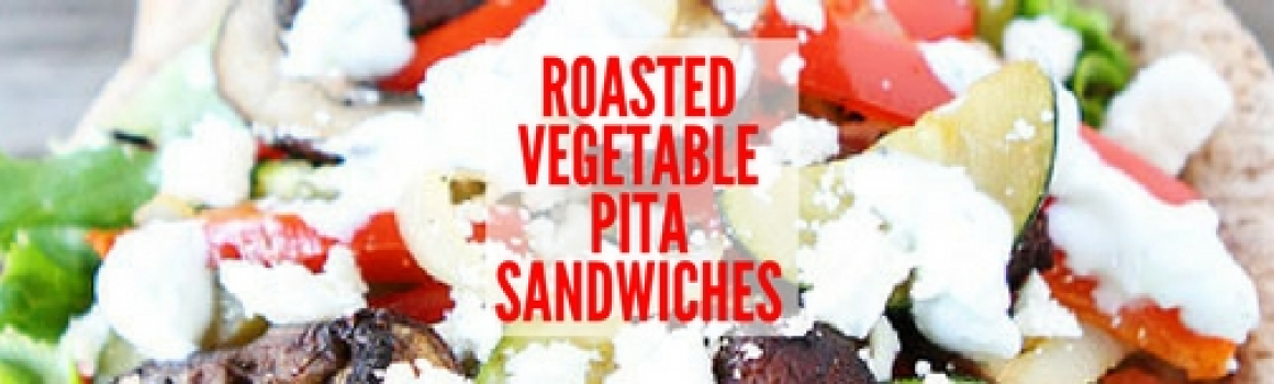 Roasted Vegetable Pita Sandwiches